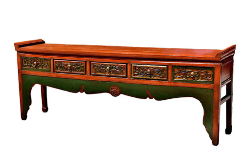 longevity table with raised flanges, antique long table