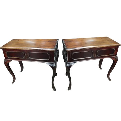tables, pair, art deco