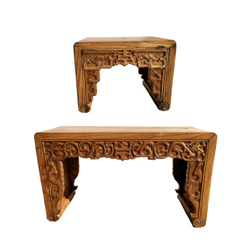 stool, bench, solid, antique