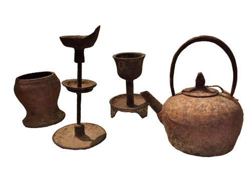 Set of 4 Antique Ironware