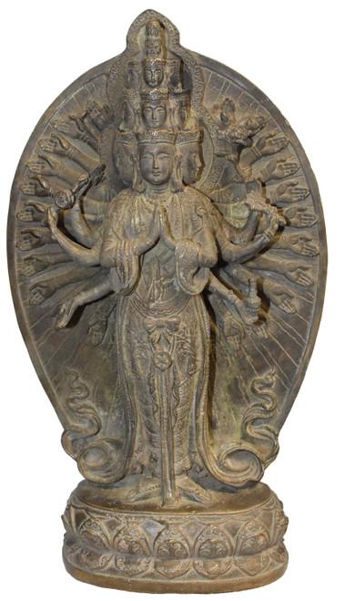 Bronze Multiple Headed and Armed Avalokitesvara Guan Yin