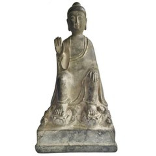 bronze no fear buddha
