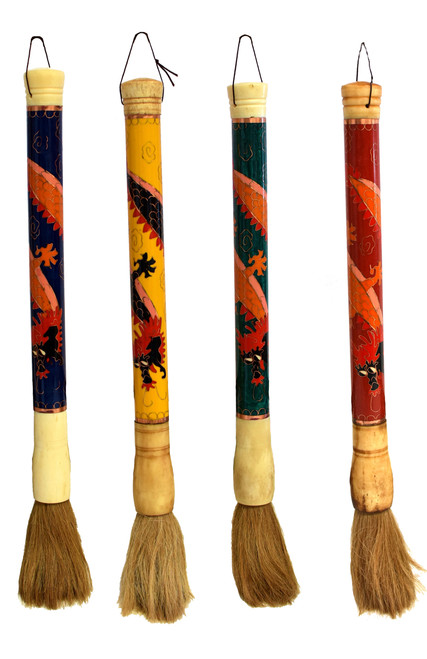 Cloisonne Dragon Calligraphy Brush
