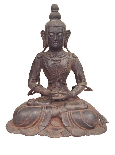 large iron buddha