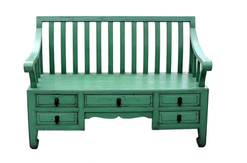 Green Bench Settee