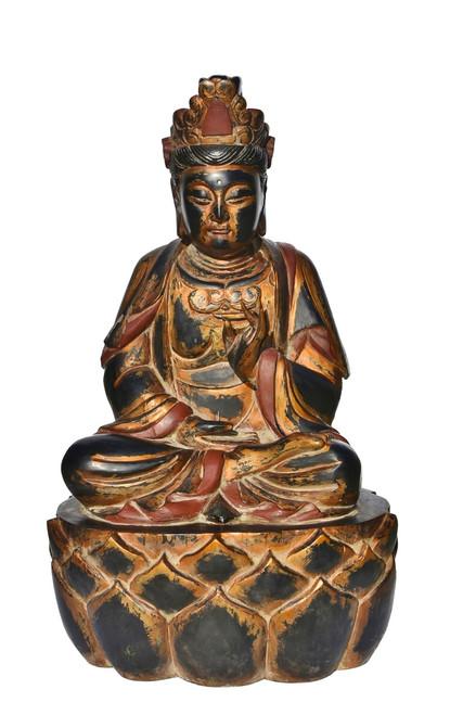 Giant Wooden Buddha Statue