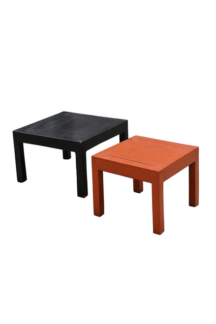 set of 2 parsons table, stools