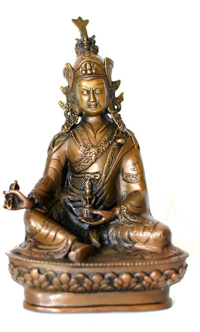 bronze tibetan teacher statue, god of wisdom