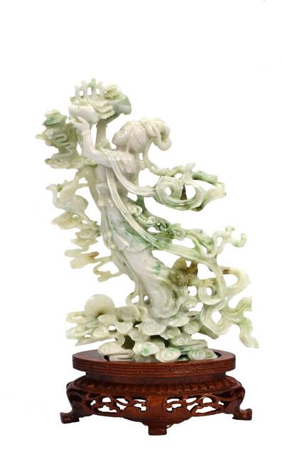 exquisite jadeite fairy statue