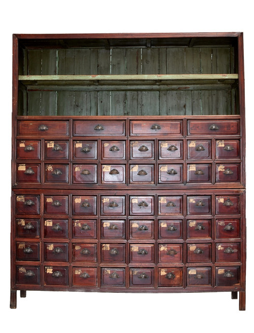 monumental apothecary chest, over 7' tall