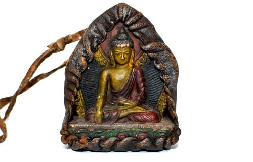 tibetan protection amulet 6, buddha in meditation