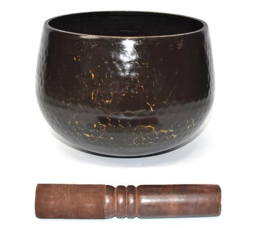 large japanese antique bronze singing bowl 2, Brown