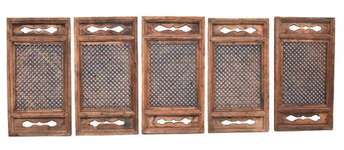 antique screen set of 5, ming cube design