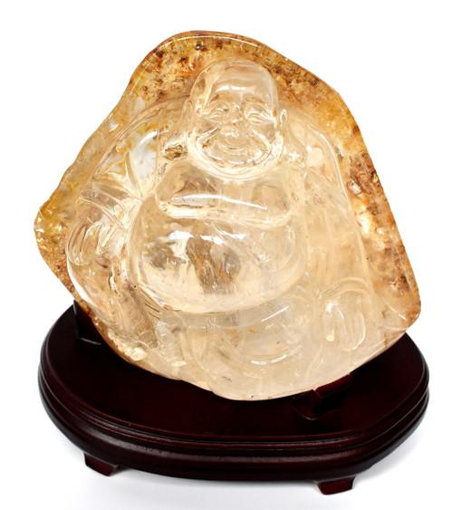 rutilated crystal buddha, 7 lb
