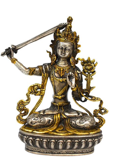tibetan buddha manjushree with sword of wisdom