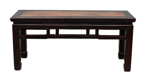 antique spring bench, 2 tone ming style