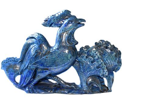 Natural Lapis Lazuli Pheasant Sculpture