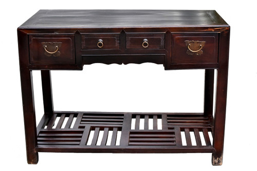 antique chinese desk with butterfly hardware