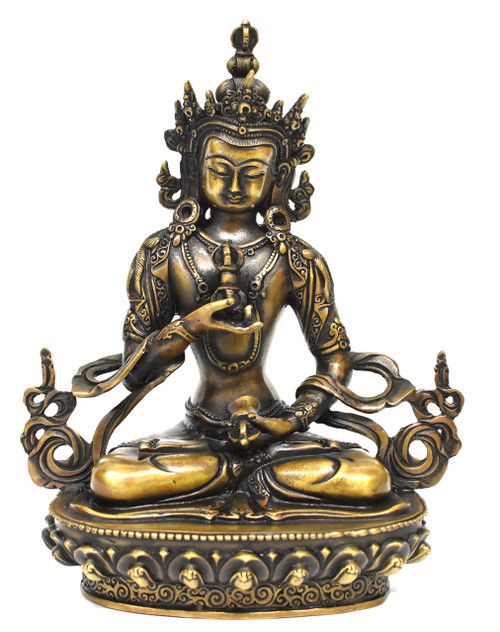 Tibetan Statue of Vajrassatva Buddha, Antique Gold Finish