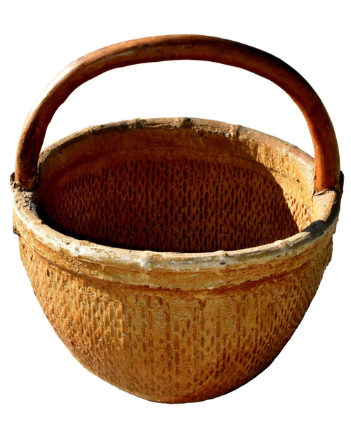 antique country willow basket