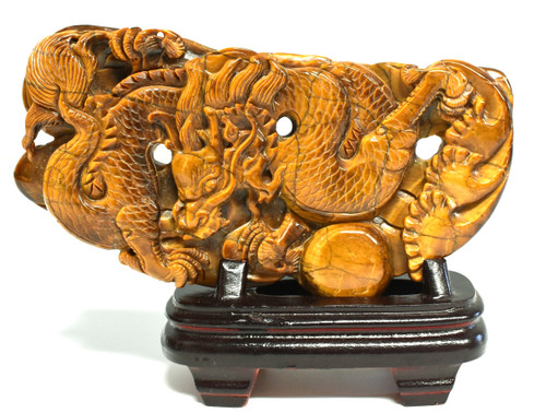 Tiger's Eye Dragon Statue