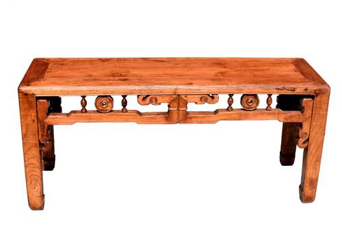Chinese Antique Bench, Natural Finish