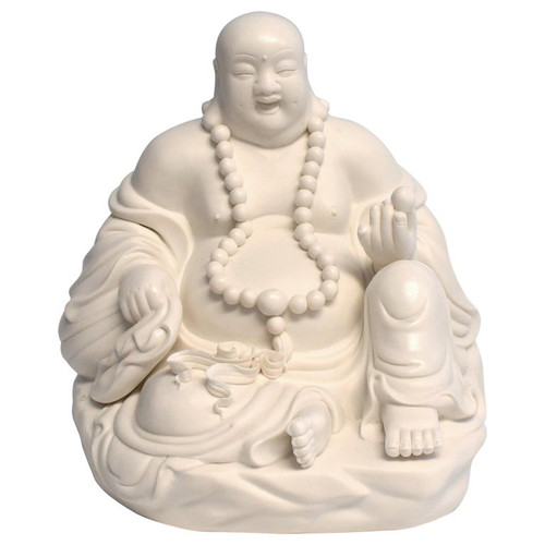 Blanc de Chine White Porcelain Happy Buddha