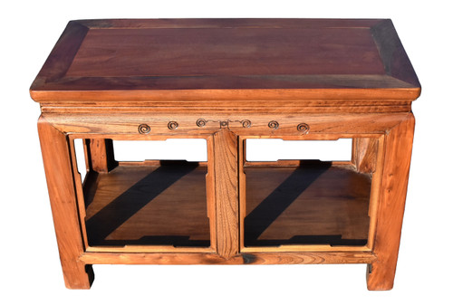 Asian Solid Wood Ming Table, Bench