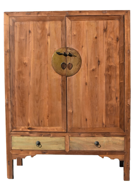 Pine Armoire Ming Cabinet
