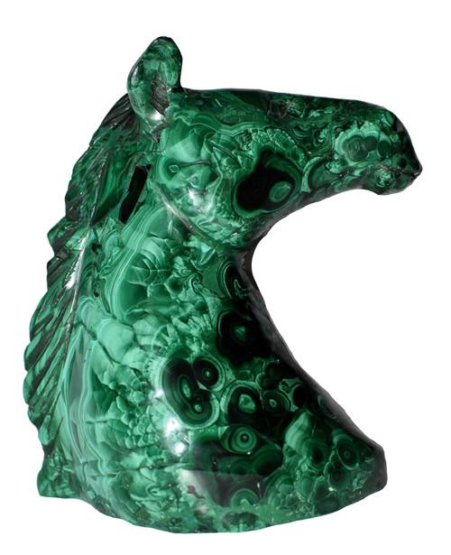 Malachite Horse Bust