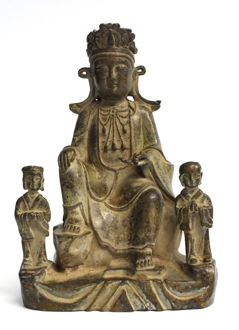 Antique Bronze Buddha as a Teacher