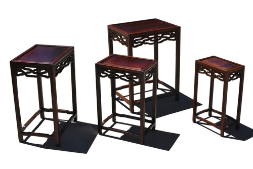 Nesting Table Set of 4 Hua Li Wood