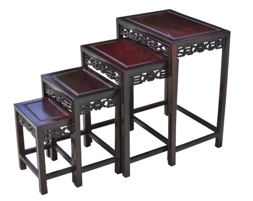 Nesting Table Set of 4 Rosewood