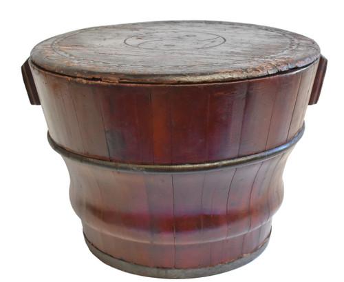 Chinese Antique Wedding Basket with Yin Yang Symbol