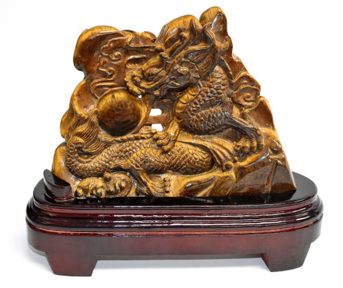 Tiger's Eye Dragon Staue