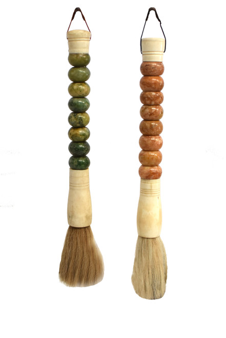 Calligraphy Brushes Set of 2, Marble Beads