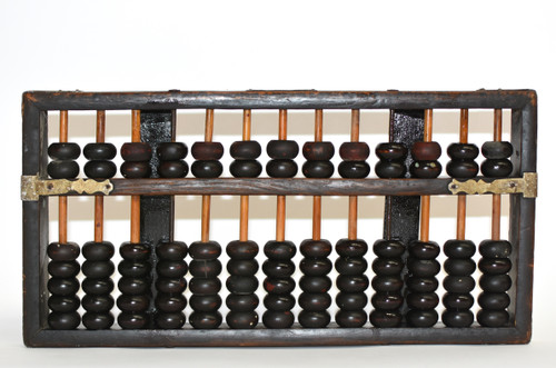 Antique Abacus w Metal Brackets