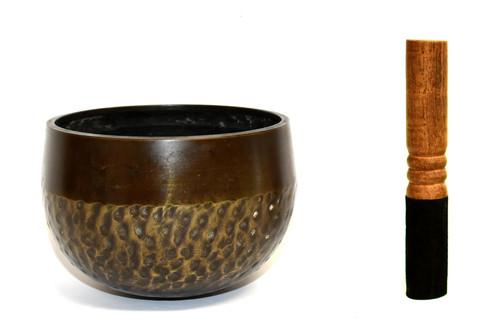 Japanese Antique Singing Bowl Tiger Stripe