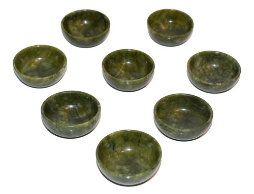 Set of 8 Serpentine Teacups