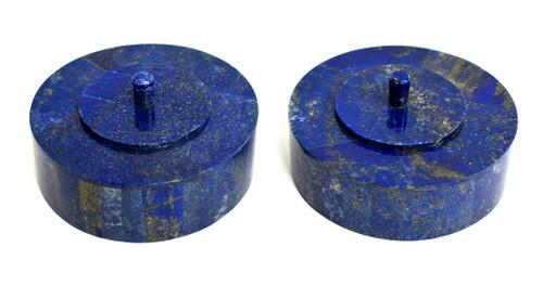 Pair Lapis Round Boxes