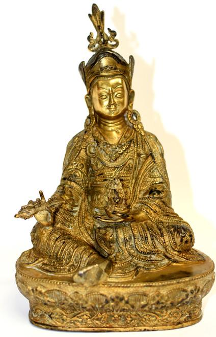 Gilt Bronze Tibetan Teacher Padma Sambhav
