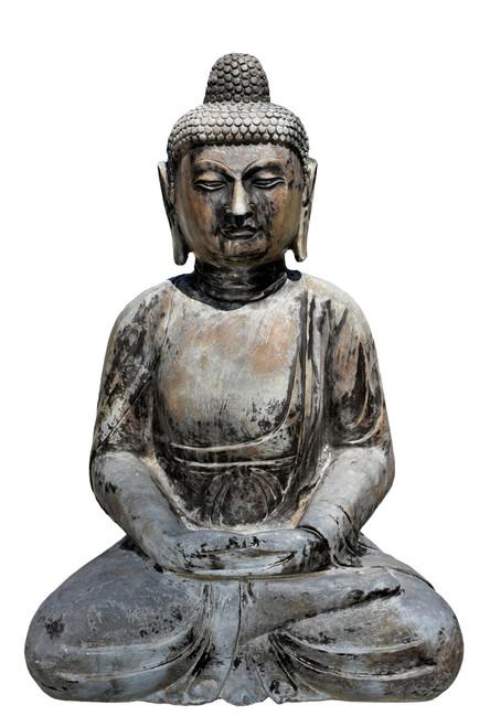 Solid Stone Sitting Buddha