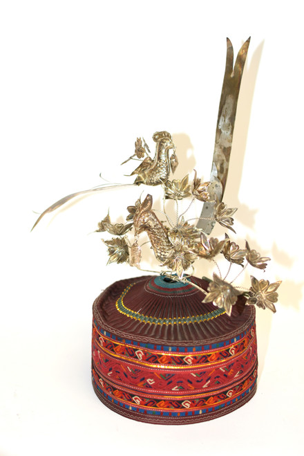 Miao Hat with Silvered Birds