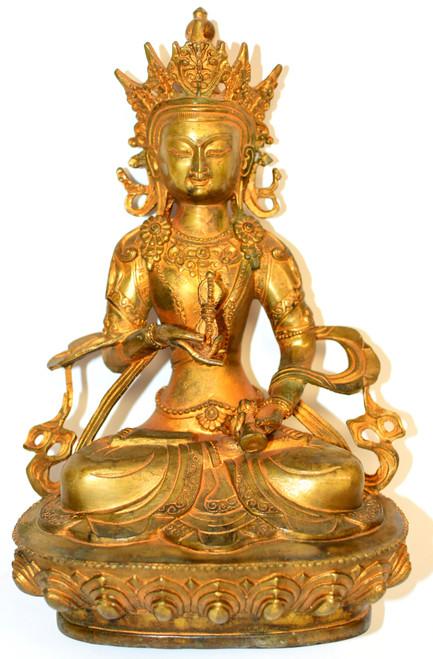 Gilt Bronze Tibetan Buddha Statue of Vajrassatva