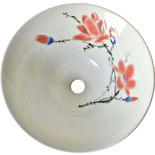 Sink Ceramic Pink Magnolia