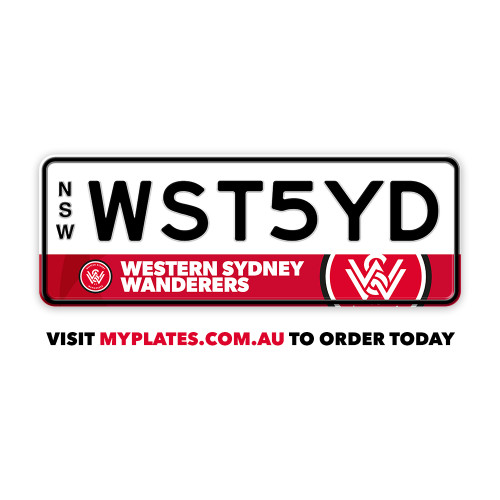 Western Sydney Wanderers  MyPlates - From $270
