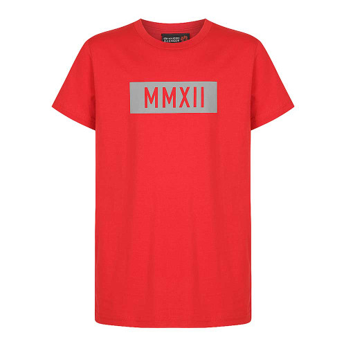 Youth Red Block Tee