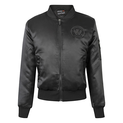 Womens Black Bomber Jacket