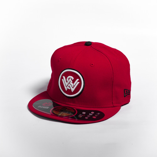 New Era Red 59FIFTY Fitted Cap