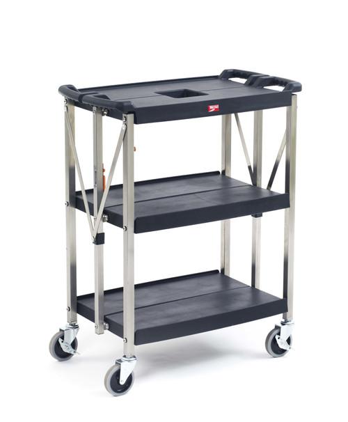 "Metro FC1627-34BL myFold 3-shelf Utility Cart, 16.5"" x 28.9"""